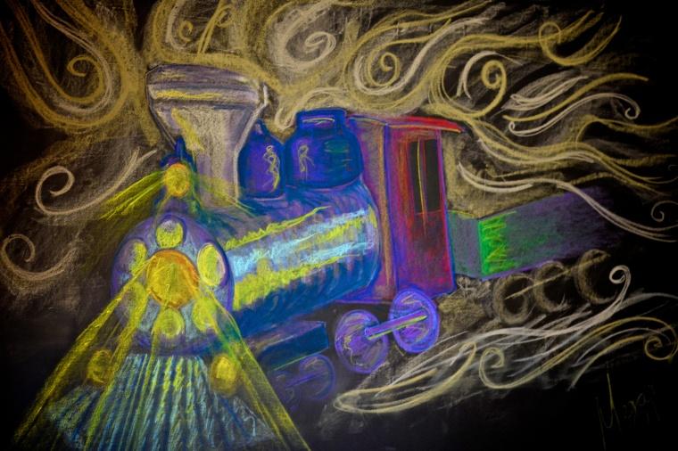 Chalk Train 025 / 365